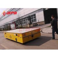 Quality Self - Loading Trackless Transfer Cart Trolley 100MT On Concrete Floor for sale