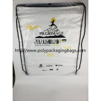 Quality Drawstring Frosted Recycled Plastic Backpack Eco - Friendly Water Proof for sale