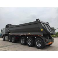 Mechanical Suspension Heavy Duty Semi Trailers , U Shape 40 T Load Capacity Rear Dump Tipper Semi Trail for sale