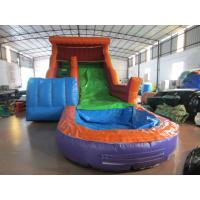 Buy cheap Big inflatable water slide with pool PVC inflatable water slide Colourful from wholesalers