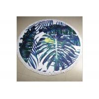 Buy cheap 100% Cotton Circle Beach Towel With Tassel , Round Towel Beach For Floor from wholesalers