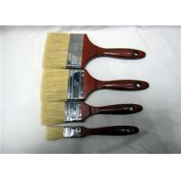 Quality Wholesale Bristle Paint Brush With Red Lacquered Wooden Handle Round Edge Iron for sale