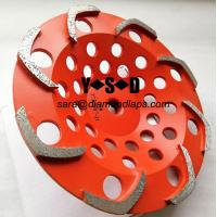 Quality 8 segments L shape Top quality Diamond Grinding Cup Wheel for Griinding Concrete for sale