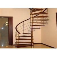 Charmant Laminated Glass Tread Custom Spiral Staircase Suspended Ladder , No Welding