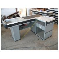 Quality Multifunctional Supermarket Conveyor Belt Checkout Counter / Retail Cash Desk for sale