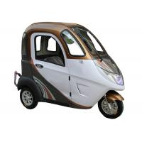Quality Handle Steering Wheelbase 1400mm Enclosed Electric Trike for sale