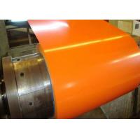 Quality Orange Pre Painted Galvanized Coils 0.18 - 0.2mm Thickness With Base Metal GI GL for sale