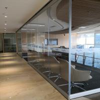 Quality Movable Partition Walls Tempered Glass Partition Without Aluminum Retractable Partition Wall For Bangladesh for sale