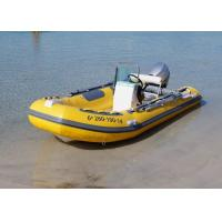 Quality Fiberglass Hull Small Rib Boat 3.9 M Yellow Dimensional Stability With Boat Trailer for sale