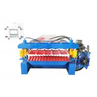 Quality 2 Types Iron Sheet Making Machine , Profile Roll Forming Machine 16 Rows Rollers for sale