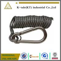 Quality spring wire rope sling ,black coated steel wire rope sling for sale