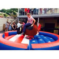Water Park Inflatable Sports Games , Inflatable Bull Rodeo Machine