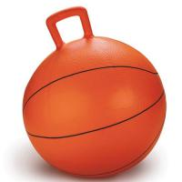 Quality Non Toxic Space Hopper Ball Basketball Inflatable Toy Bouncing Ball With Handle for sale