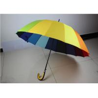 Quality 190T High Density Compact Rainbow Umbrella Water Resistant With Size 21 Inch * 16 K for sale