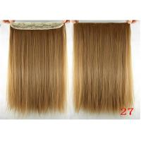 Quality Long Silky straight Synthetic Hair Extensions Double Drawn Strong Hair Weaving for sale