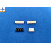 Quality 1.0mm Pitch Right Angle SMT Wafer Connector Single Row With PA6T Material for sale