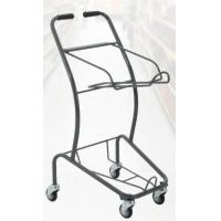 Buy 50KGS Shopping Basket Trolley Japanese Style Zinc Plating Metal Double Basket at wholesale prices