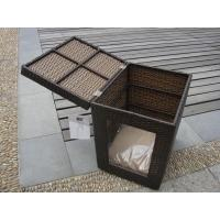 Quality Outdoor Garden Wicker Pet Bed Comfortable Pet House For Dog / Cat for sale