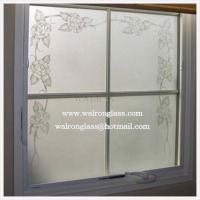 Quality 6mm etched/Translucent Glass for Glass walls/Glass Partitions/Glass Dividers for sale