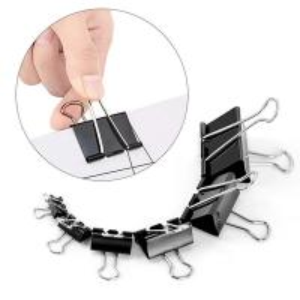 Quality Fancy Office Black Folder Binder Paper Clip  metal folder iron binder paper clip for sale