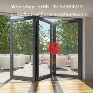 Glass panel,Waterproof veranda double glazing aluminum bi folding door,folding aluminum door partition
