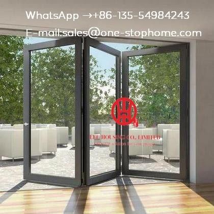 Buy Glass panel,Waterproof veranda double glazing aluminum bi folding door,folding aluminum door partition at wholesale prices