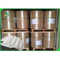 China Thickness 30 - 350gsm PE Coated White Color Kraft Paper In Coils For Various Packing on sale