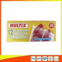 Quality Supermarket Plastic Freezer Zip Lock Bags / Zip Seal Food Freezer Bags for sale