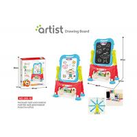 China 67 CM Height Unisex Kids Magnetic Drawing Board 12 Chalks Painting Blue on sale