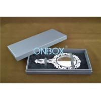 Quality Lid Off Packer Design Solid Cardboard Box With 2 Alternative Insert Pads For Big Necklace And Mirror for sale