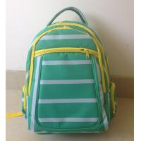 Buy OEM ODM Green White Polyester Striped High School Backpacks with Laptop Pocket at wholesale prices
