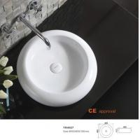Quality Rectangular ceramic cabinet wash art basin white color coutertop lavabo no overflow hotel basin for sale