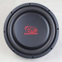 China Shallow Mount 10 Inch Car Subwoofer , 2 Ohm Car Audio Speakers 10mm Top Plate on sale