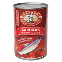 Buy cheap 425g Good sale for Canned sardine in tomato sauce from Wholesalers