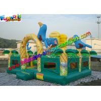 China Elephant Commercial Bouncy Castles , Bouncy Castles House With Fully Printing on sale