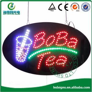"Quality HSB0001 15""*27"" oval BOBA TEA led sign board for sale"