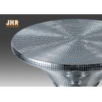 Quality Silver Mosaic Glass Fiberglass Furniture Round Pedestal End Table Modern Style for sale