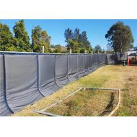 Quality Temporary Acoustic Fence PVC membrane layer waterproof 40dB noise reduction 800mm*2100mm for temporary fence for sale