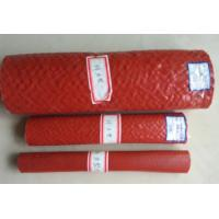 Quality Heat Resistant Silicone Rubber Fiberglass Sleeving , High Temperature Fire Sleeves for sale