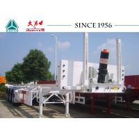 Quality 20/40FT Tipping Skeletal Trailers , Heavy Duty 3 Axle Trailer With Long Service Life for sale