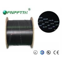 Quality 3 Steel Wires FTTH Fiber Optic Cable Outdoor , Black fiber optic network cable for sale