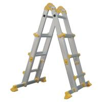 Quality 3 Steps Foldable Aluminum Ladder Corrosion Resistant 4x3  Long Life Span for sale