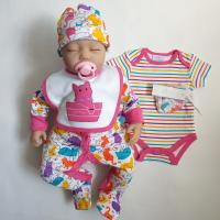China Anti Shrink 5 Pcs Newborn Baby Clothes Set Warm Comfortable Clothes on sale