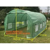 Quality WATER PROOF UV COATING REINFORCED PE HYDROPONIC GREENHOUSE, PE WOVEN OUTER DOOR, Polytunnel Mini Tunnels Walk in Greenho for sale