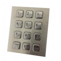 China 4 x 3 vandal proof numeric metal keypad with USB PS2 cable for  public security phone on sale