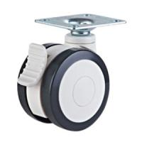 Quality Dual wheels medical caster with brake for sale