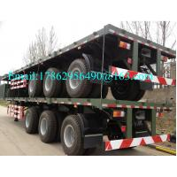 Quality Three Alxes 40ft Heavy Duty Semi Trailers Flatbed Truck With 28 Tons Landing Gear for sale