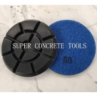 Quality 100mm Hybrid Concrete Floor Transitional Resin Polishing Pads for sale