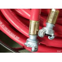 Quality Flex ID 3/4 Inch Rubber Air Hose Assembly With Chicago Fittings , 300 Psi Work Pressure for sale