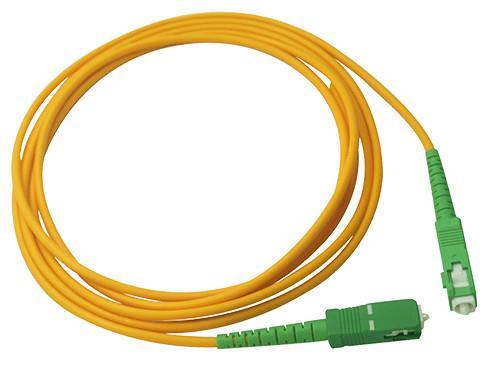 Buy Simplex 2.0mm LSZH Fiber Optic Patch Cord SC / APC Connector to SC / APC SM at wholesale prices
